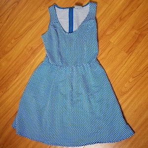 Antropologie Maeve Blue White Dot Dress M Medium